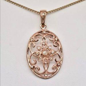 .10 cttw genuine diamond pendant